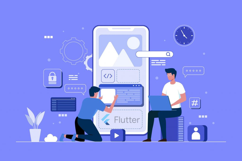 developers working on the Flutter app